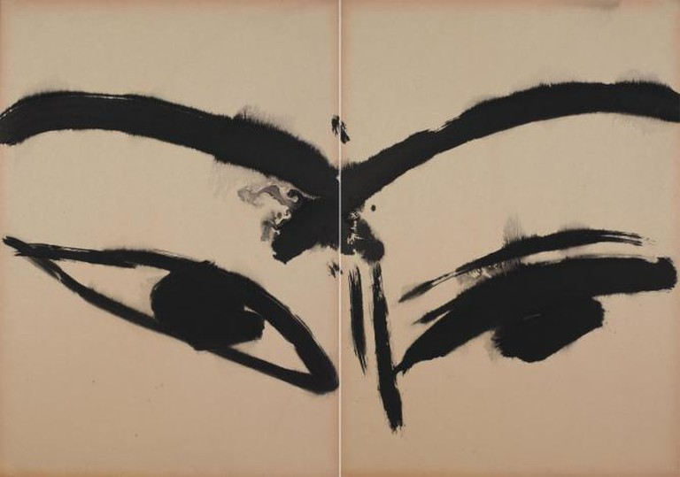 T'ang Haywen, Untitled, c. 1970, Diptych , Ink on Kyro Card, 70 x 100cm