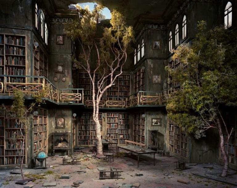 Lori Nix, Library