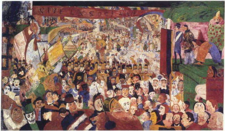 James Ensor, Christ's Entry into Brussels in 1889