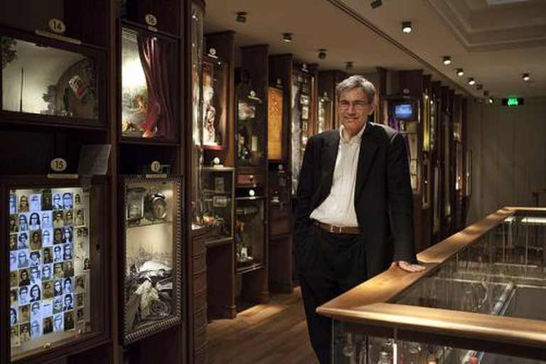 Orhan Pamuk at the Museum of Innocence