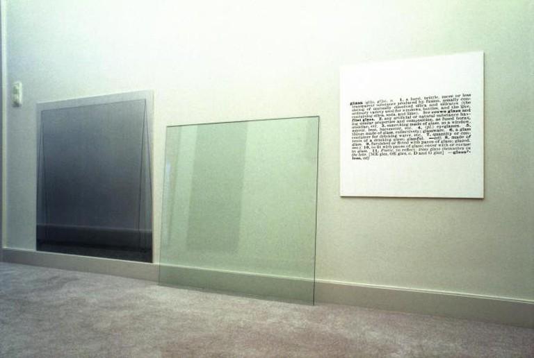 Joseph Kosuth  Glass - One and Three