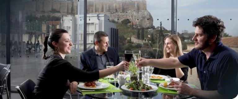 Restaurant at the Acropolis Museum