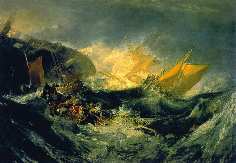 J. M. W. Turner, Shipwreck of the Minotaur   WikiCommons
