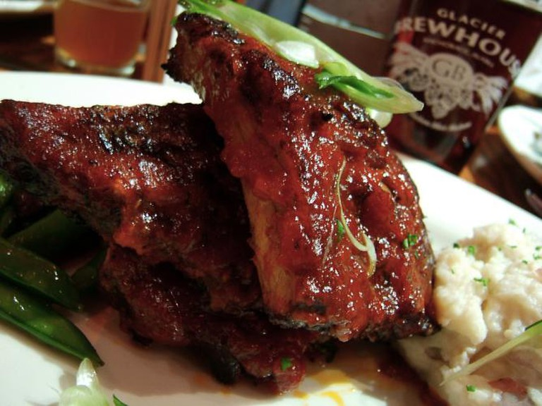 Glacier BrewHouse BBQ ribs