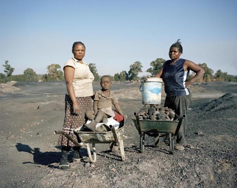 Sylvia, Angel and Setty, disused Coronation Colliery, Likazi, Emalahleni (Witbank), Mpumalanga, 2011 | © Ilan Godfrey