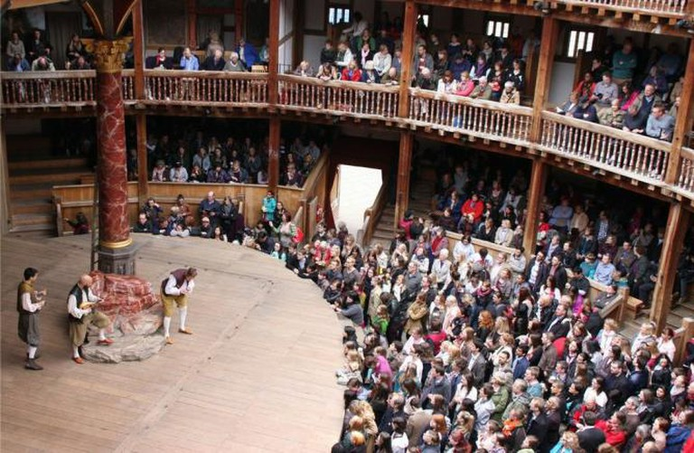 Interior of the Globe Theatre, London