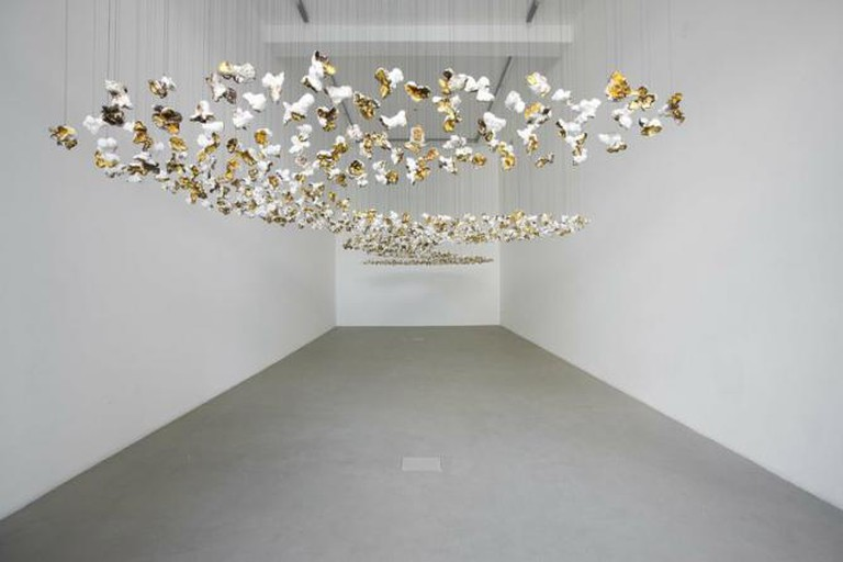 Pae White, Pop storm, A piece of the almost gray sky…, Kaufmann Repetto Gallery