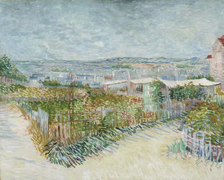 Vincent van Gogh, Montmartre: derrière le Moulin de la Galette, 1887, Oil on canvas, 81 x 100 cm, Van Gogh Museum Amsterdam (Vincent van Gogh Foundation)   Image courtesy of Esprit Montmartre at the Schirn Kunsthalle Frankfurt