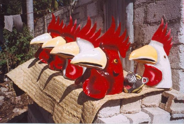 Papier-Mache heads created for Carnival, Jacmel