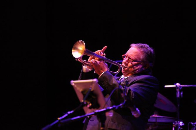 Latin Jazz icon Arturo Sandoval performed at Festival Miami 2013