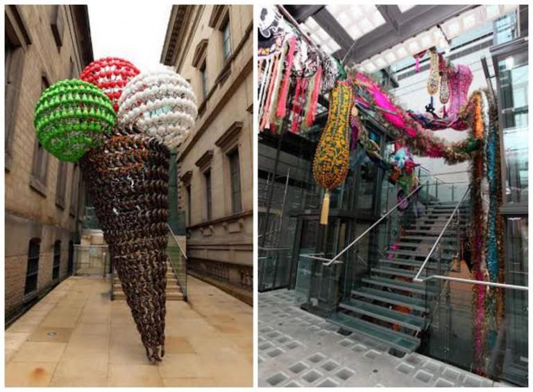 Joana Vasconcelos, Tutti Frutti, 2011; Joana Vasconcelos, Britannia, 2014