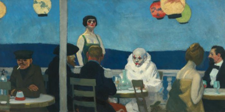 Edward Hopper, 1882-1967, Soir Bleu, 1914, Oil on canvas, 36 1/8 x 71 15/16 in. (91.8 x 182.7 cm) Whitney Museum of American Art, New York; Josephine N. Hopper Bequest © Heirs of Josephine N. Hopper, licensed by Whitney Museum of American Art, N.Y.