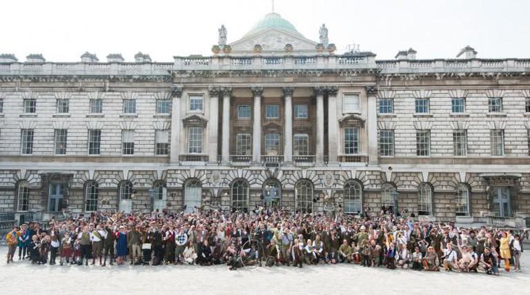 The Tweed Run at Somerset House London