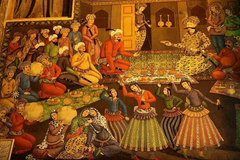 Shah Abbas I and Vali Muhammad Khan. From Chehel Sotoun palace, Isfahan   © Ninara/ Wikicommons