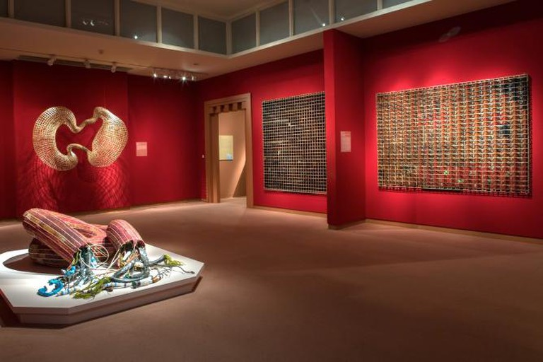 """Sopheap Pich, view of the exhibition """"Cambodian Rattan"""""""