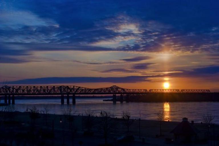 Memphis Winter Sunset