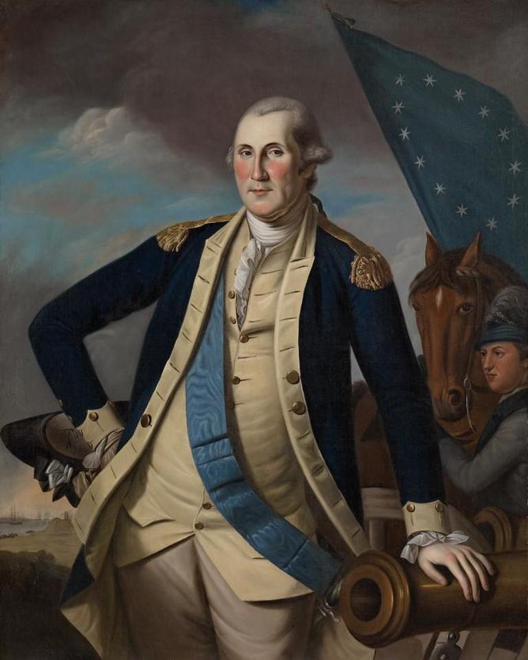 Charles Willson Peale George Washington ca. 1780-1782 Oil on canvas 50 x 40 in. (127 x 101.6 cm)   Courtesy of Crystal Bridges Museum of American Art, Bentonville, Arkansas.
