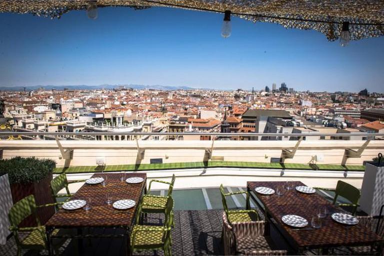 Tartan Roof in Madrid