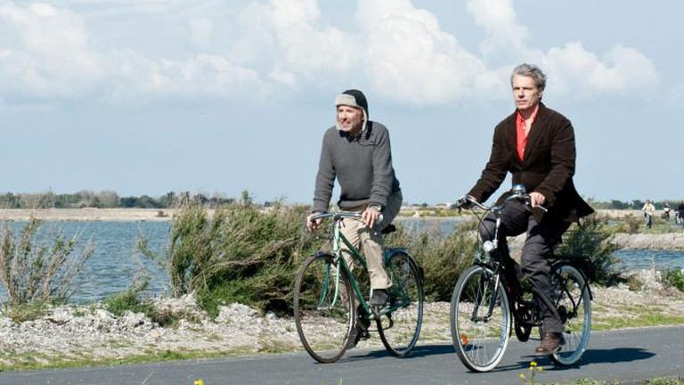 A scene from Bicycling with Moliere | Image Courtesy of Charlotte Film Society