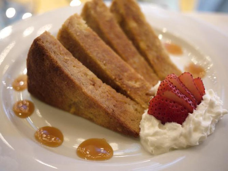 winning Crème Brulee French toast