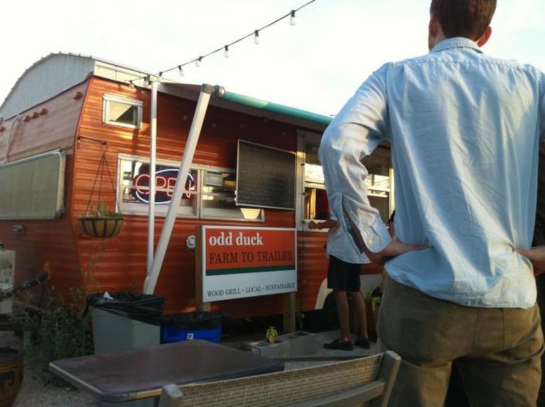 Chef Bryce Gilmore's Odd Duck Food Truck