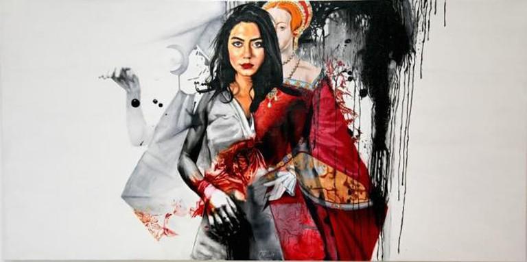 Afshin Pirhashemi, Untitled, 2014, acrylic on canvas | Courtesy Ayyam Gallery
