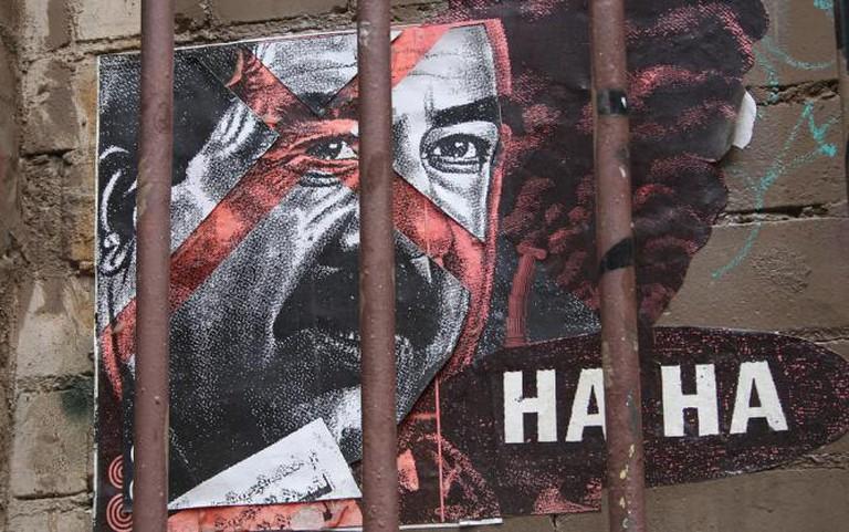 """Artist Haha (Regan Tamanui) imprisons Saddam Hussein""   © Nagarjun Kandukuru/Flickr"