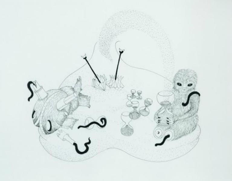 Gabríela Friðriksdóttir, The Dust Collector, 2008, Ink on Paper   Image Courtesy the Artist