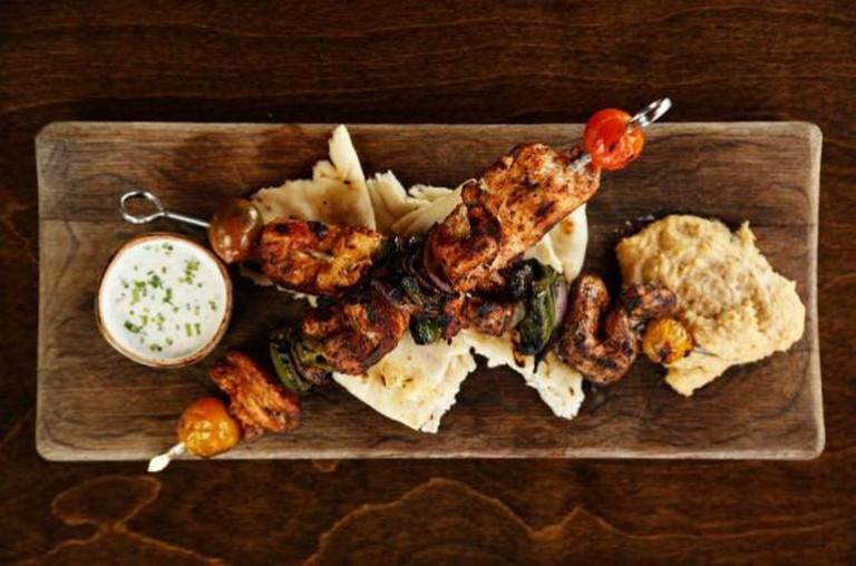 Mediterranean Chicken Kebabs | Courtesy of Salut Kitchen Bar