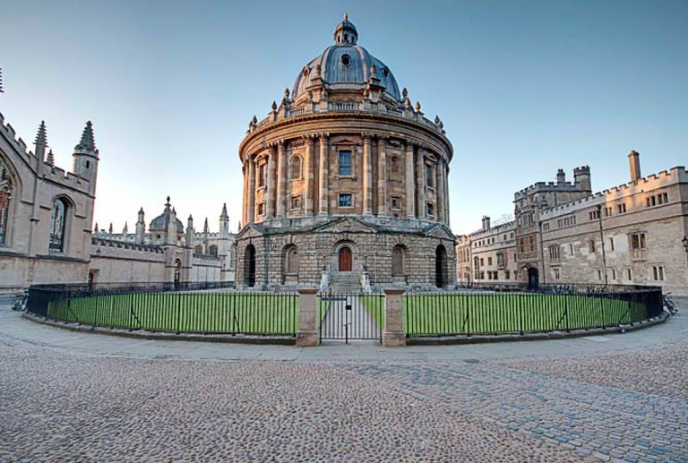 Radcliffe Square, Oxford, showing Radcliffe Camera (centre) and parts of All Souls College (left) and Brasenose College (right) © Lies Thru A Lens/Wikicommons