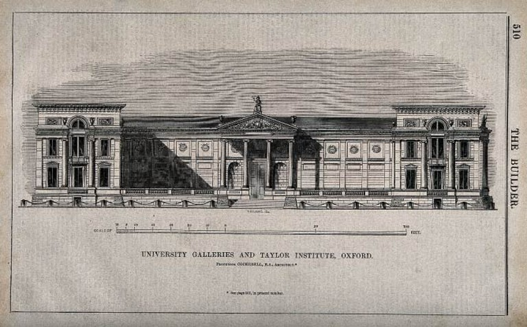 Ashmolean Museum and Taylorian Institute, Oxford: panoramic © Wellcome Images/Wikicommons