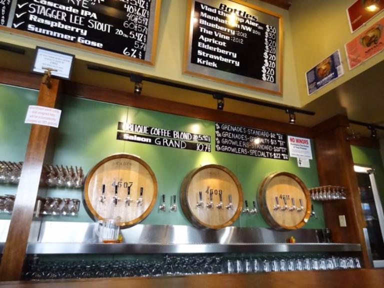 Taps at Cascade Brewing Barrel House | Courtesy of Cascade Brewing Barrel House