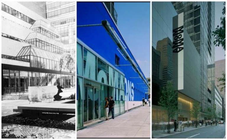 MoMA architecture from 1984 to 2011