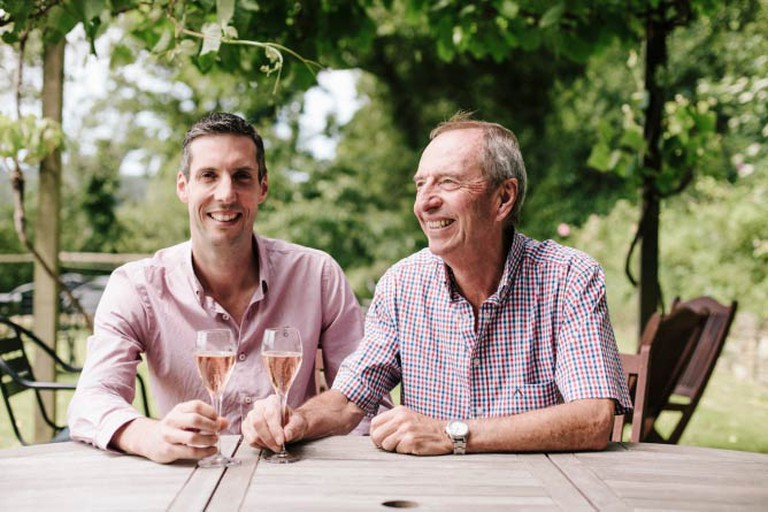 Bob and Sam of Camel Valley Vineyard