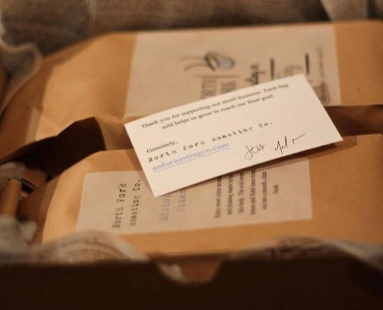North Fork Roasting Company Coffee With A Personalized Note | Image Courtesy Of Jessica Dunne And Jennilee Morris