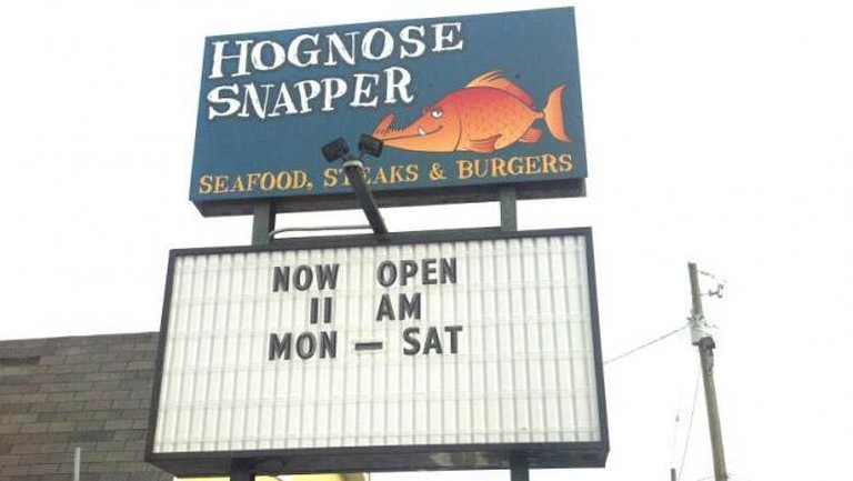HogNose Snapper, Courtesy of Restaurant