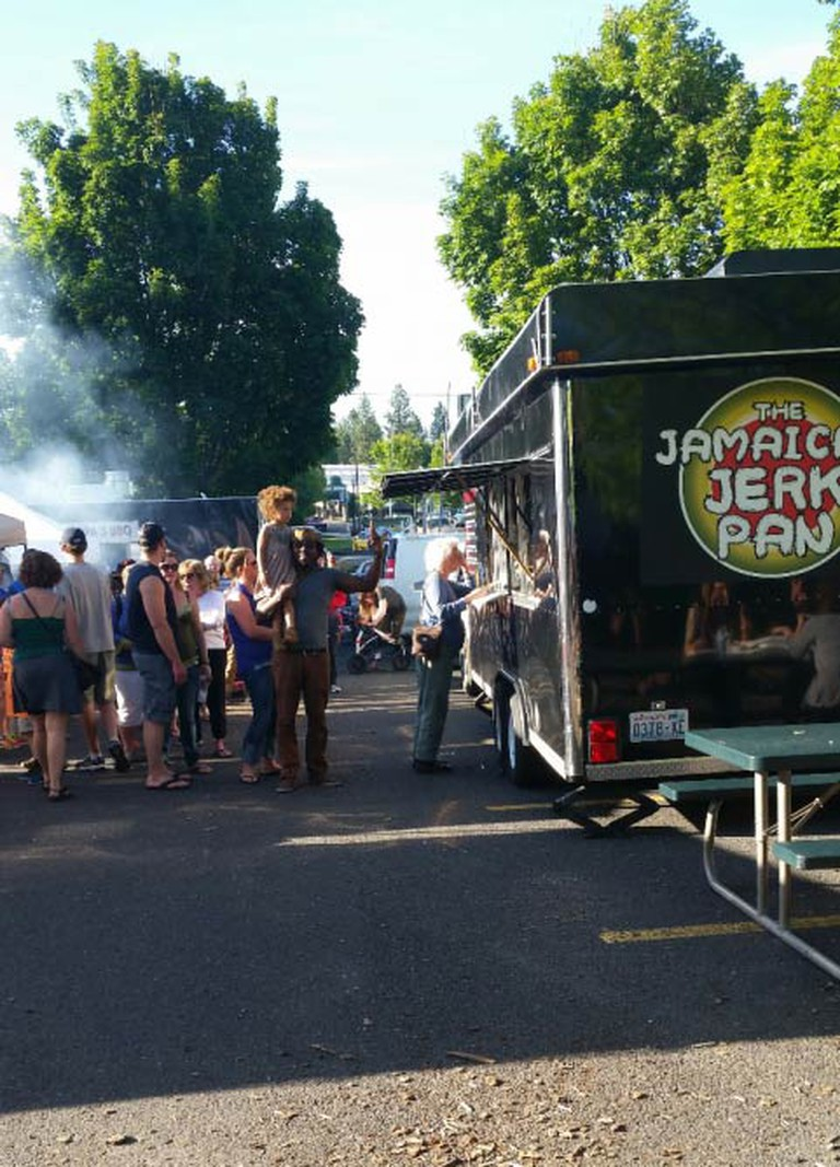 The Jamaican Jerk Pan truck | Courtesy of The Jamaican Jerk Pan