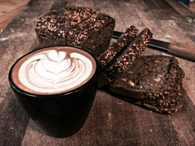 Hot chocolate and seeded bread   © E5 Bakehouse