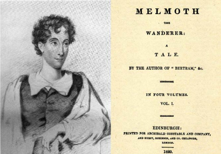Portrait of Charles Maturin, and the Front Page of Melmoth the Wanderer|© D.G Brocas/Wikicommons, Cherurbino/Wikicommons
