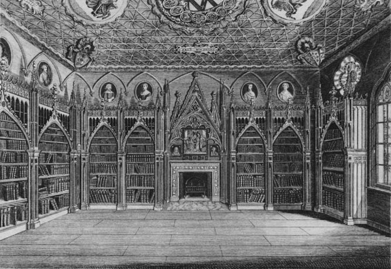 The library at Strawberry Hill, Horace Walpole's gothic mansion.|© Sir Gawain/Wikicommons