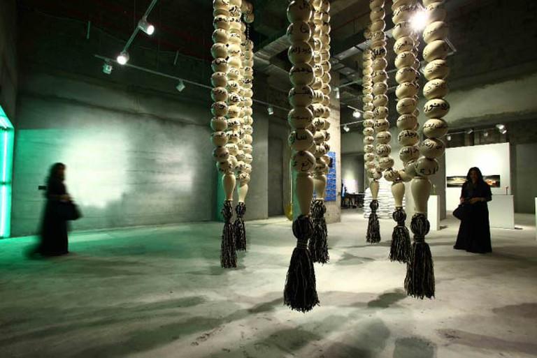 Manal Al Dowayan, Esmi (My Name) 2, 2012, installation view | Courtesy of Manal Al Dowayan