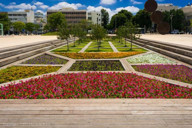 Ha'Bima garden with secret speakers