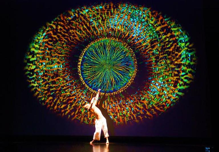 66b/cell, Living Lens. Visuals: Tetsutoshi Tabata. Dancer: Hirotsugu Saegusa | Courtesy media performance unit 66b/cell
