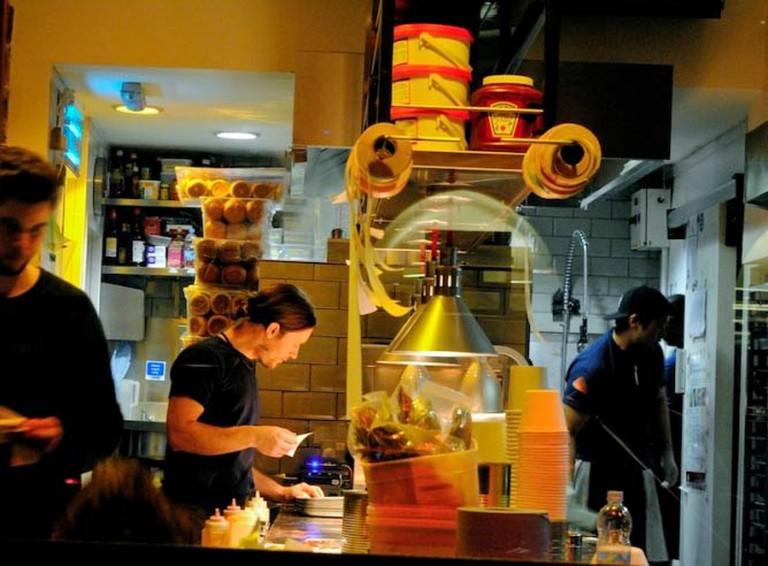 Kitchen in Liverpool St's Patty & Bun| © Alyssa Erspamer