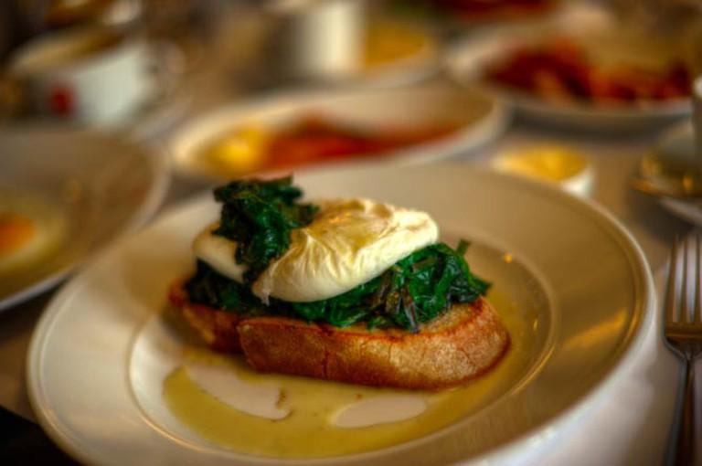 Hotel Montefiore's Eggs Florentine