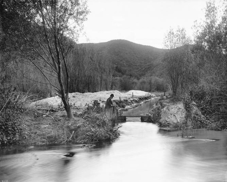 Los Angeles River at Griffith Park, ca.1898-1910