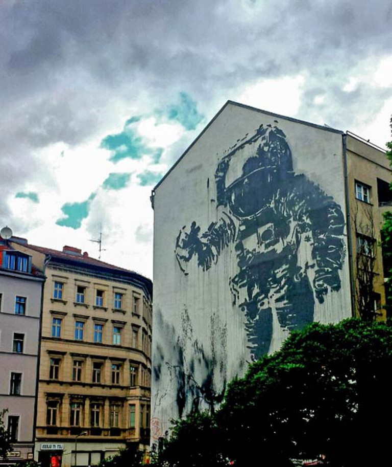 Astronaut/Cosmonaut graffiti, by Victor Ash