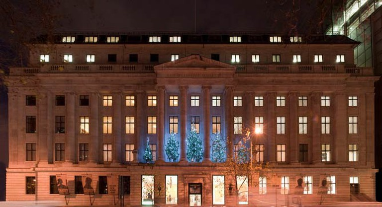 View of Wellcome Collection front at night