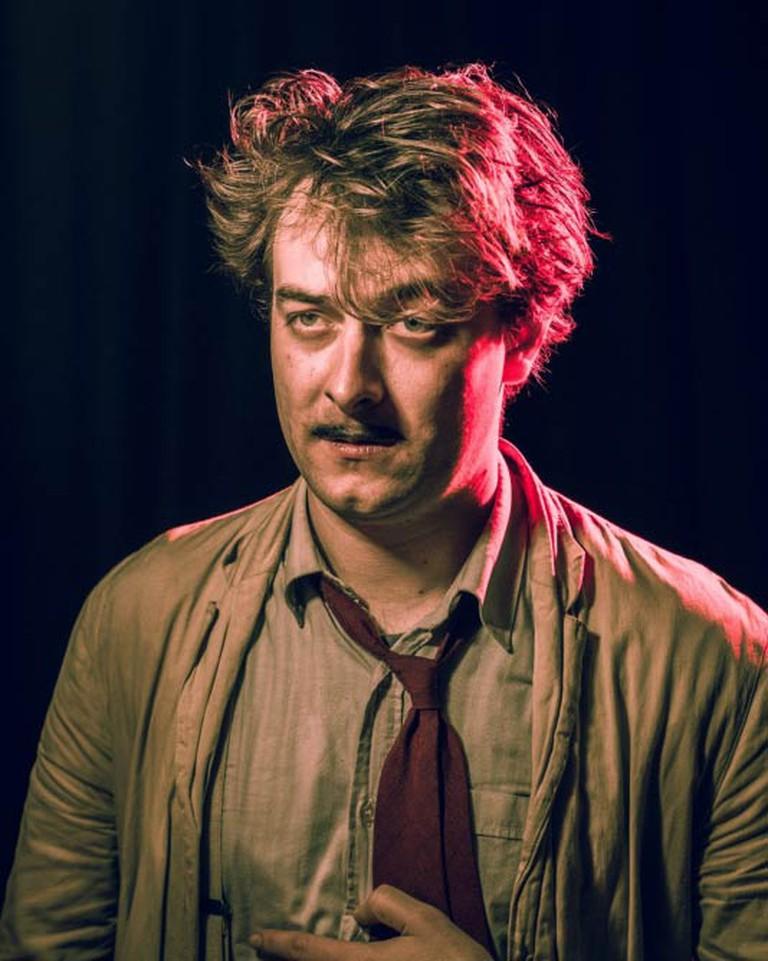 The Owle Schreame's James Carney as Matthew Merrygreeke in Roister Doister © Simon Bendix Borregaard