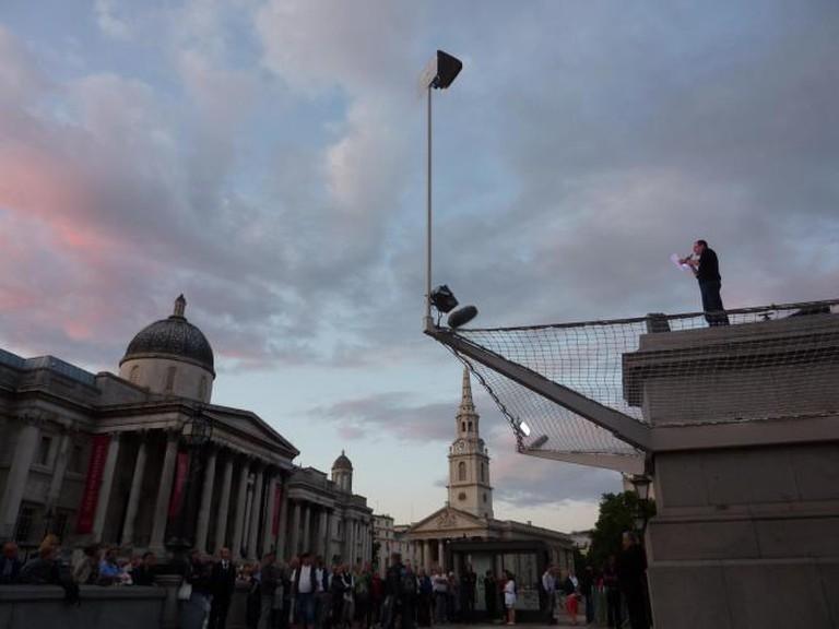 Antony Gormley Fourth Plinth Trafalgar Square